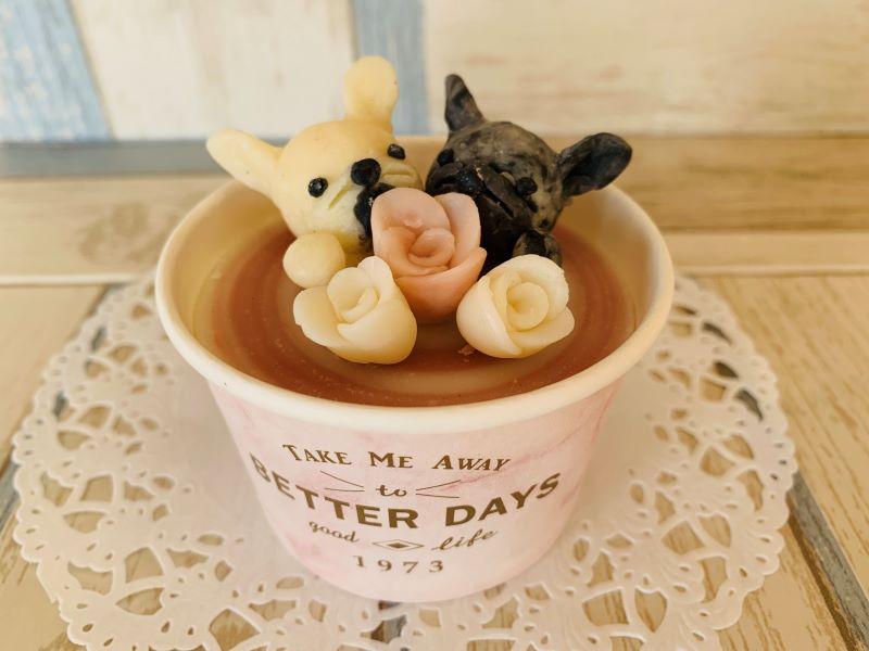 愛犬のカップソープ2dog