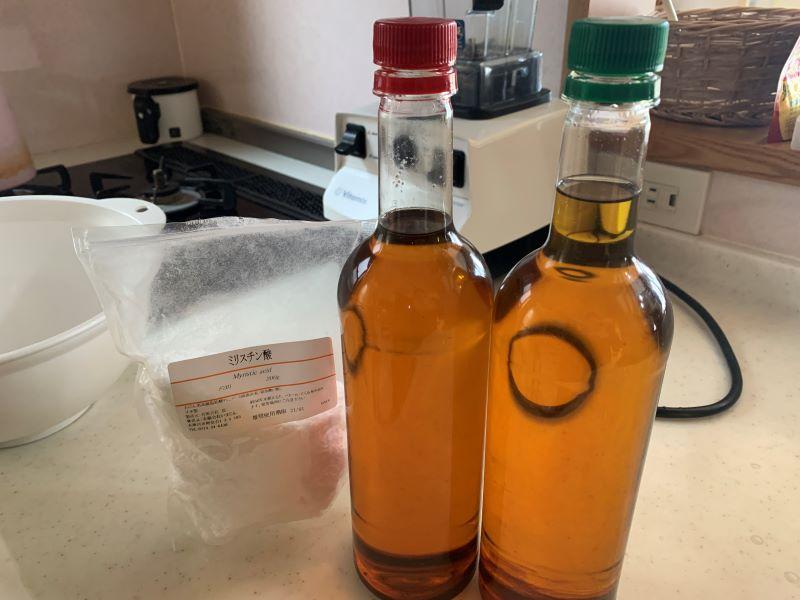 廃油とミリスチン酸